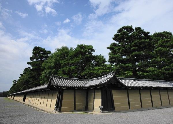 京都御所、築地塀、猿が辻