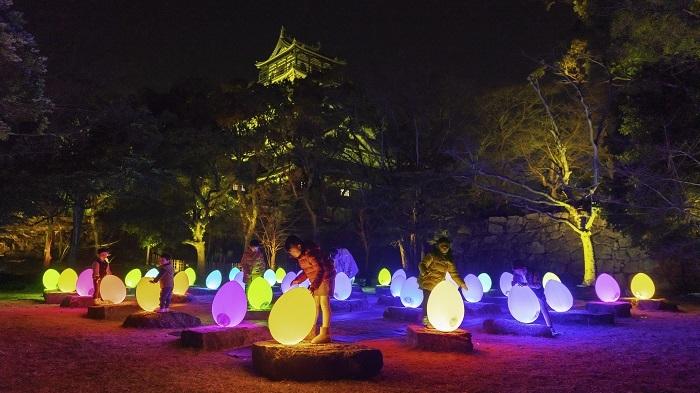 チームラボ 広島城 光の祭