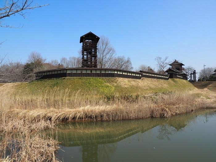 中世山城、櫓、逆井城