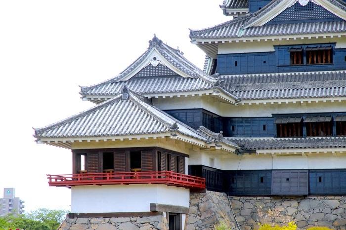 松本城、天守、月見櫓