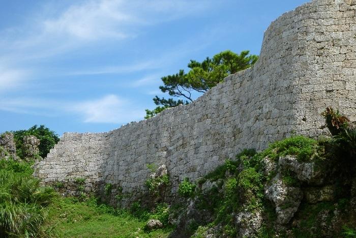 城跡西側、城壁、浦添城