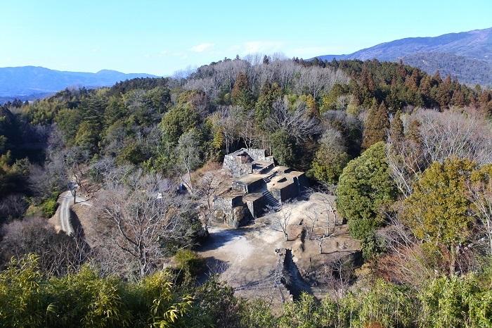 苗木城、矢倉跡