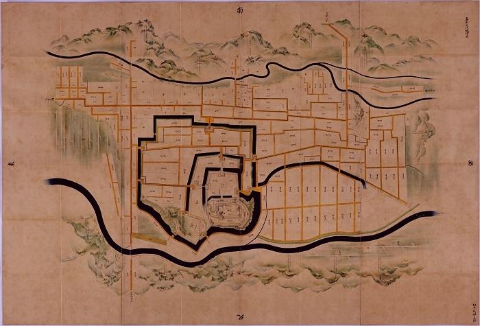 正保城絵図、白石城