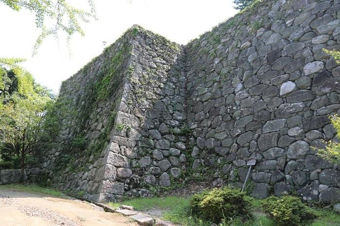 松阪城、石垣