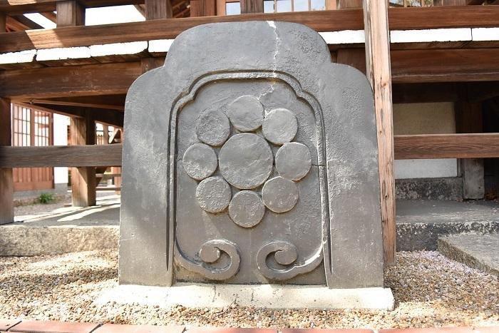 尼崎城本丸御殿、棟瓦