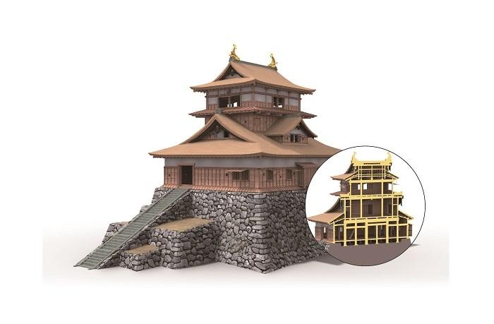 丸岡城天守復元想像図