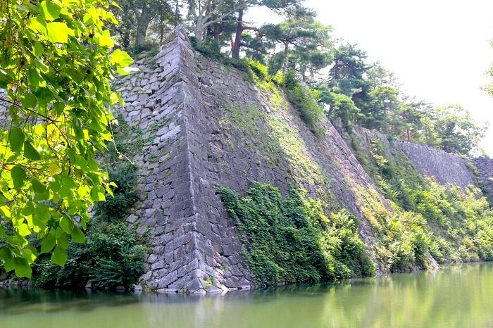 伊賀上野城、高石垣