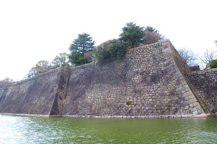 大阪城、本丸、石垣