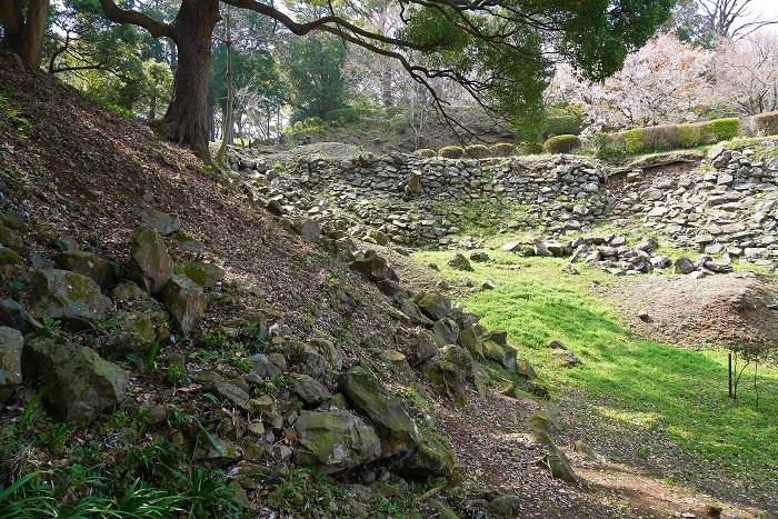 東曲輪の石垣、二の丸の石垣