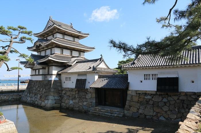 高松城の水手御門と月見櫓