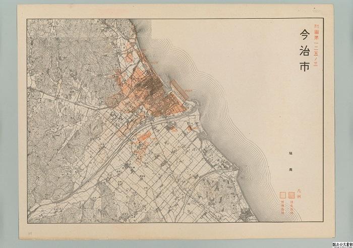 今治市、地図