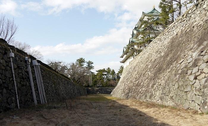 名古屋城本丸の空堀