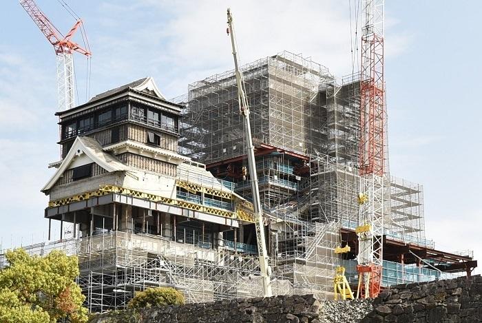 熊本城、工事