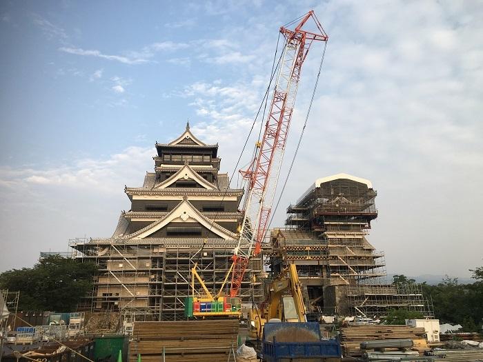 熊本城、復旧工事