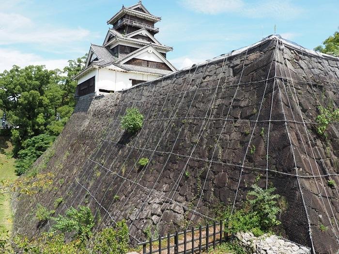 宇土櫓、高石垣