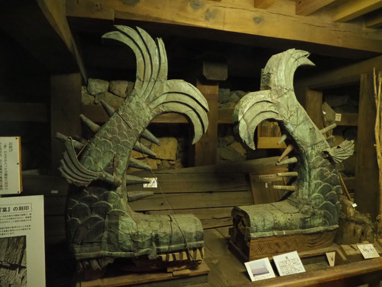 松江城、鯱鉾