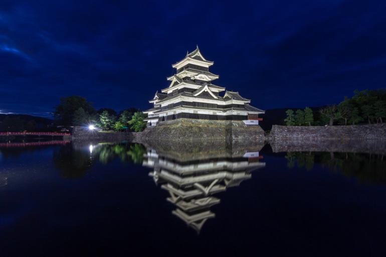 日本三大夜城、夜景、松本城