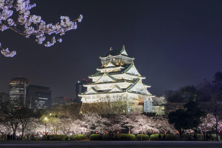 日本三大夜城、夜景、大阪城