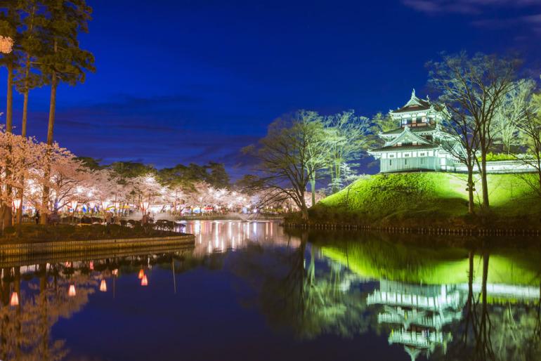 日本三大夜城、夜景、高田城