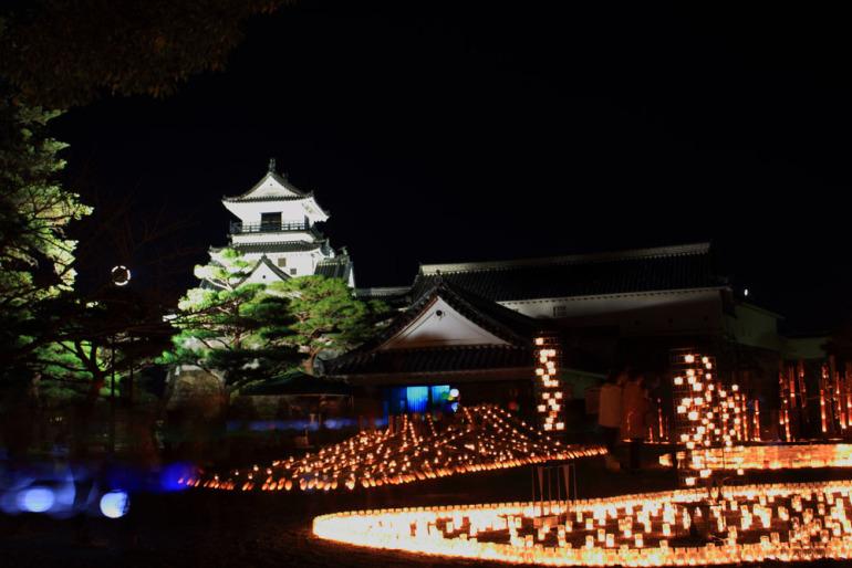 日本三大夜城、高知城