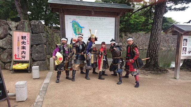 お城EXPO2019、城めぐり観光情報ゾーン、まつえ若武者隊・松江おもてなし堀尾衆