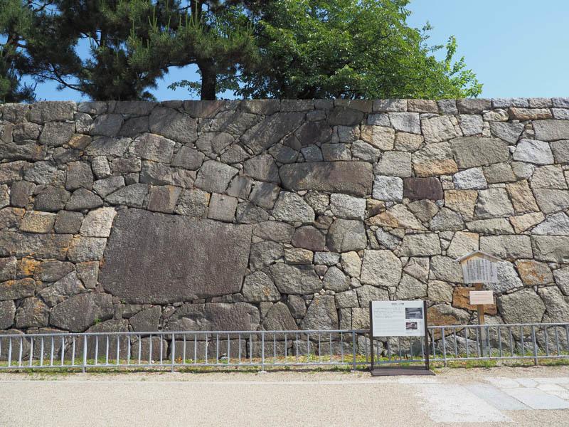 名古屋城、石垣
