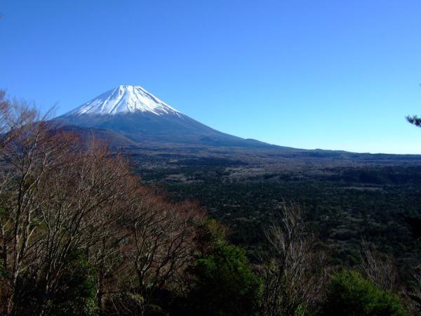 富士山、本栖城