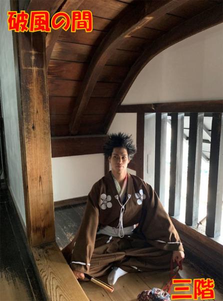 犬山城、破風の間