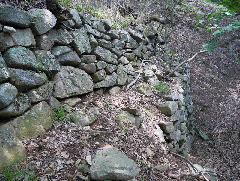 植原城、石垣