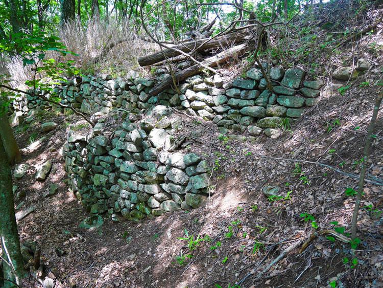 埴原城、石垣