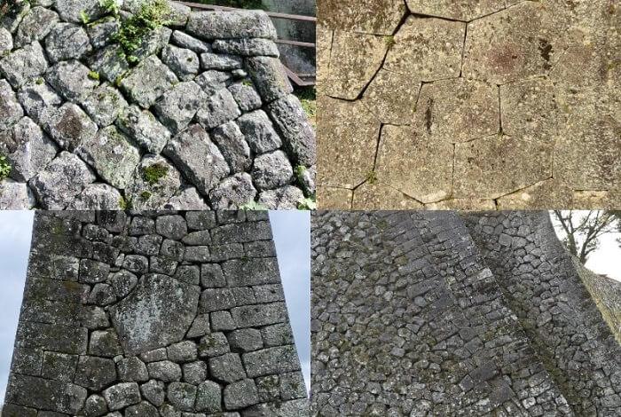 石垣、岡城