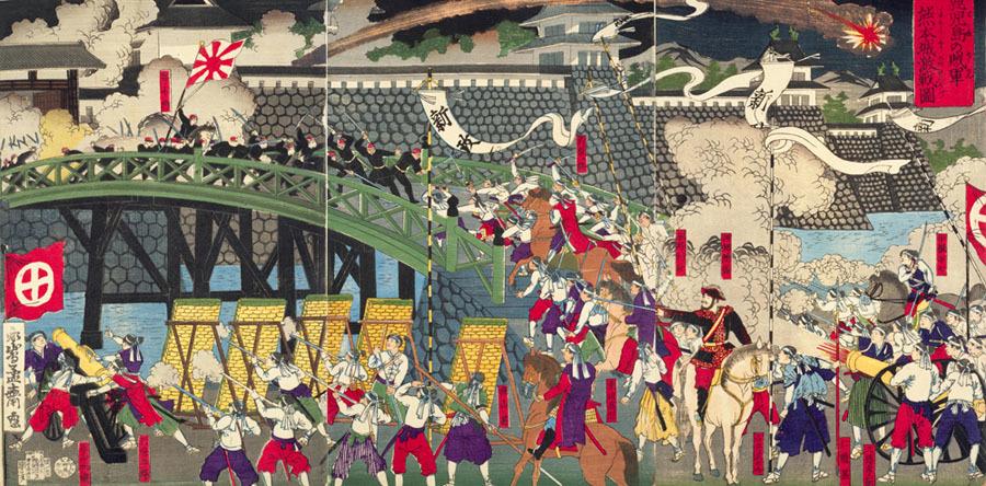 熊本城の戦い、錦絵