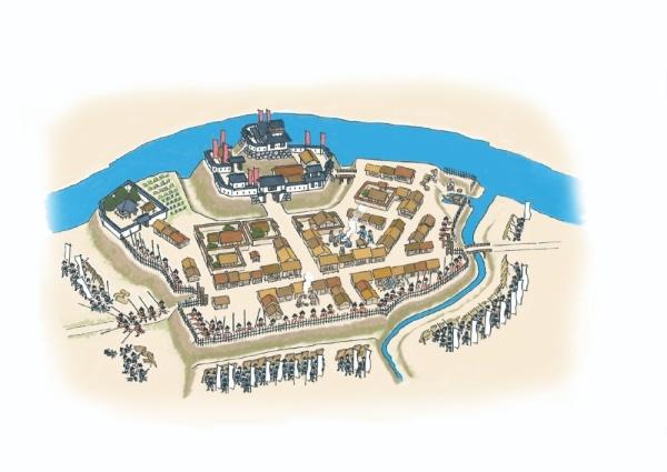 城下町はどうやって敵から守られていたの?