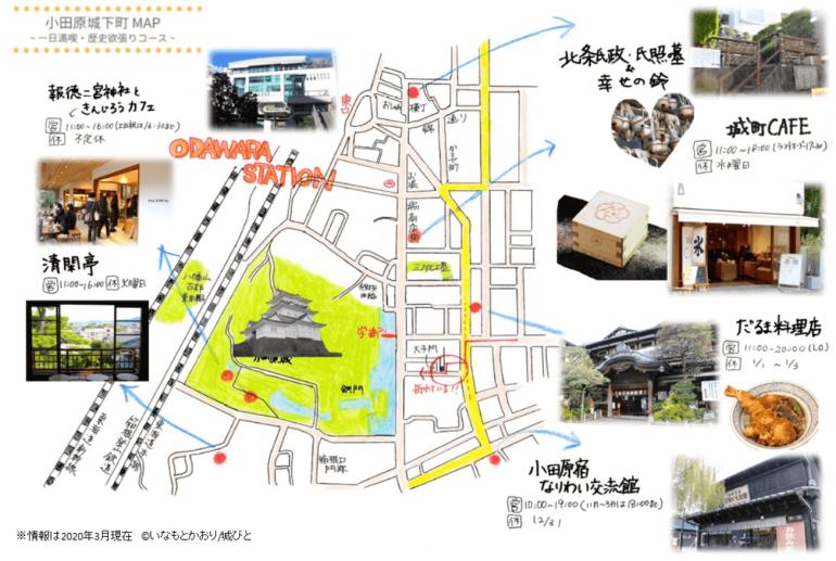 小田原城下町マップ,いなもとかおり