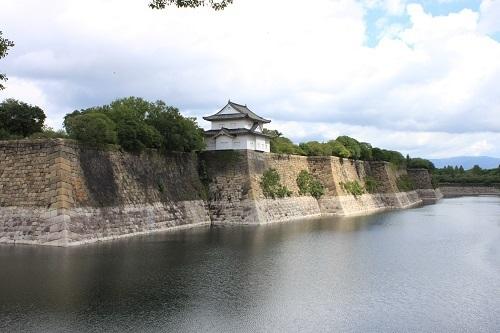 大阪城、石垣