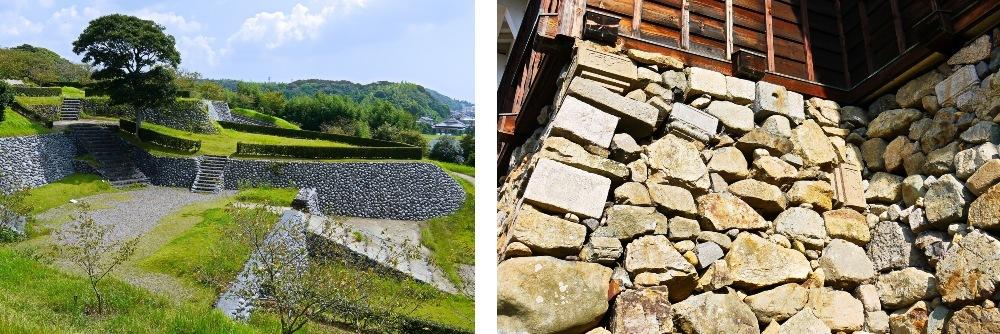 横須賀城、福知山城天守台、石垣