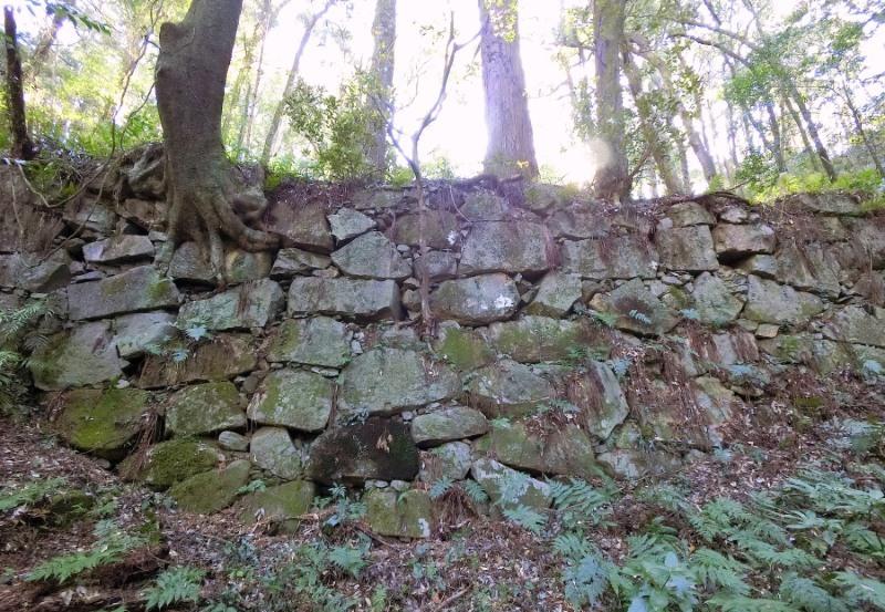 笠間城、石垣
