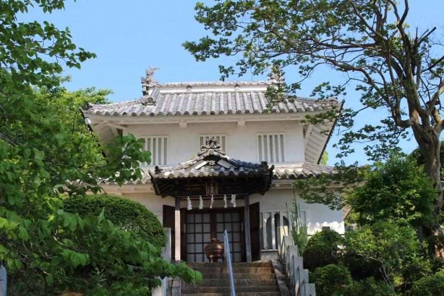 笠間城、七面堂、櫓