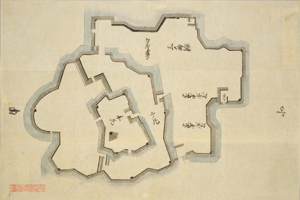 赤穂城、日本古城絵図