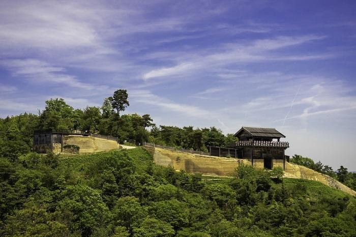 鬼ノ城、石垣