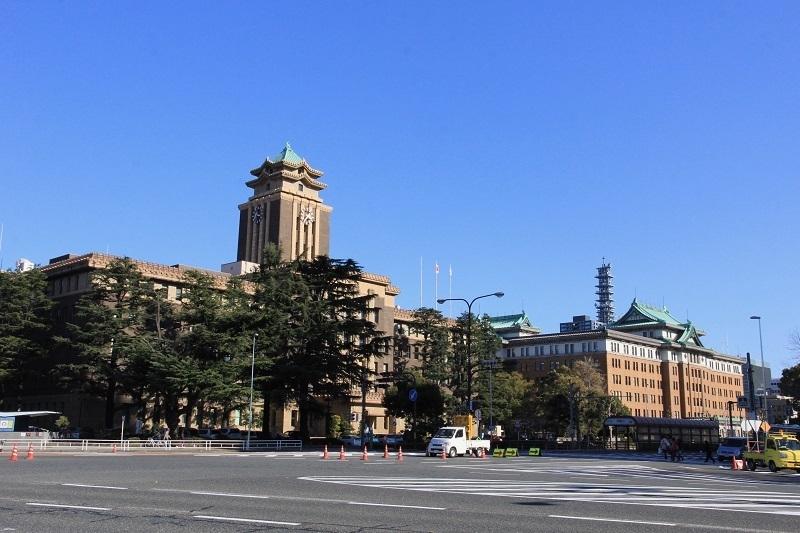 名古屋城、名古屋市役所、愛知県庁
