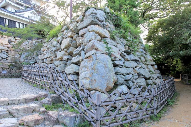 浜松城、石垣