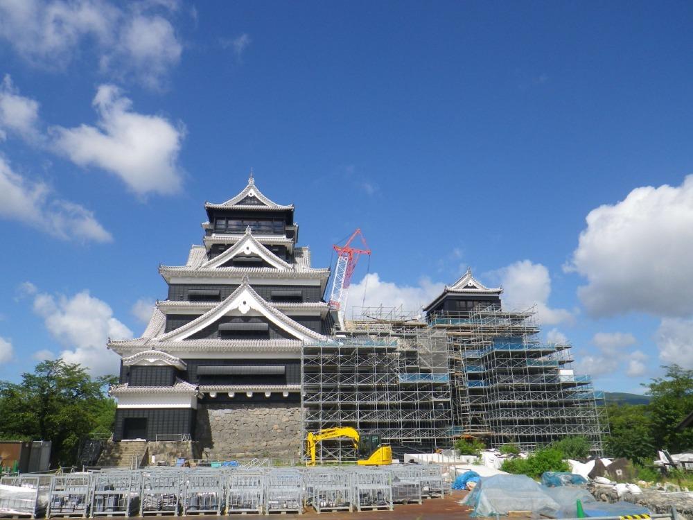 熊本城、天守閣前広場