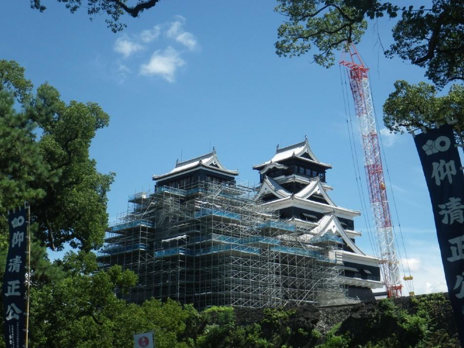 熊本城、加藤神社、天守閣
