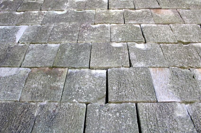 福井城、瓦御門、石垣