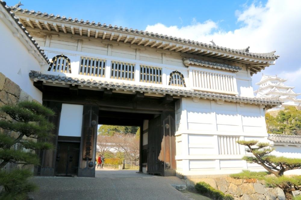 姫路城、菱の門