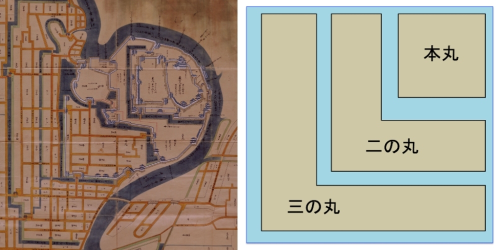 城絵図、岡山城