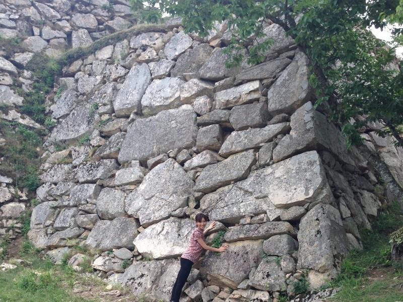 竹田城、石垣