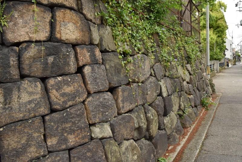 岸和田城、防潮石垣跡