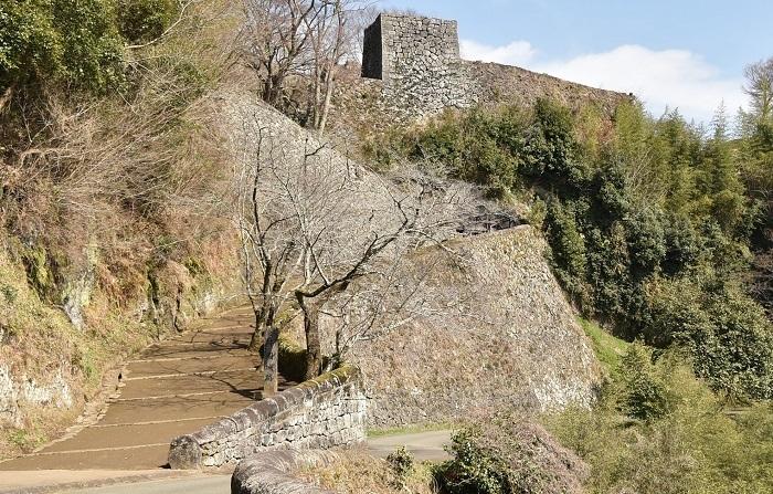 岡城、石垣